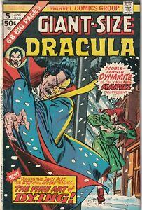 Giant-Size Dracula # 5 VG Marvel Comics 1975 Horror Comic