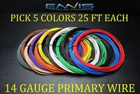 14 GAUGE WIRE ENNIS ELECTRONICS 25 FT EACH PRIMARY CABLE AWG COPPER CLAD 5 ROLLS