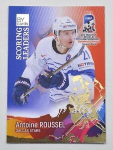 2017 BY cards IIHF WC Scoring Leaders #15 Antoine Roussel #/20