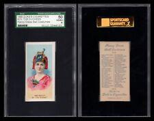 "1889 N73 DUKE FANCY DRESS BALL COSTUMES  "" THE DUCHESS ""  SGC 50  2255"