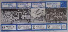 Division 3 Football League Fixture Programmes (1980-1992)