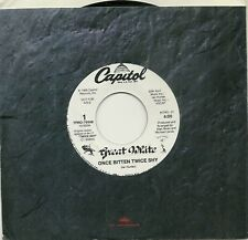 GREAT WHITE ~ ONCE BITTEN TWICE SHY ~ 1989 WHITE LABEL PROMO 45rpm RECORD, MINT-