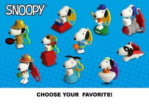 McDonald's 2018 Peanuts The Many Faces of Snoopy Figures/Toys-Pick Your Favorite