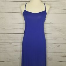 Forever21 Women's XS Royal Blue Strappy Racerback Maxi Dress