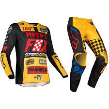 Fox Racing 180 Motocross MX Kit Pantaloni Maglia - Czar Nero Giallo