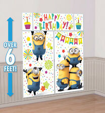 Minions Despicable Me Party Supplies SCENE SETTER 5 Pc Wall Decorating Kit