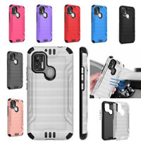 Coolpad SUVA (CP3669AANB) Phone Case [Brushed] Shockproof Defender Cover Case