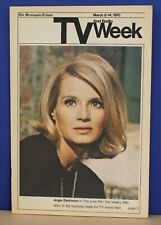 "Minneapolis Tribune TV Week March 8 1970 Angie Dickenson ""Love War"" on Cover"
