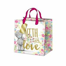 Me to You Medium Gift Bag Floral Design With Lots of Love Bag - Tatty Teddy