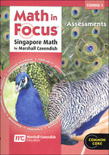 Grade 6 Math in Focus Assessments Book Course 1 6th