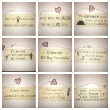 Shabby Chic Novelty Wooden Wall Hanging Plaques Signs New Novelty Xmas Gifts