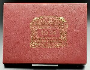 1974 B Bombay Mint Republic of India 10 Coin Gem Proof Set OGP Box COA Nice