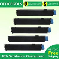 5 PK Toner Cartridge For Okidata 43502001 B4600 B4600N B4550 PS B4600n B4550n