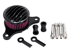 Black Ribbed Air Cleaner Kit Intake Filter Harley Twin Cam EVO Stage 1 High Flow