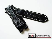 - BOB FALTSCHLIESSENBAND Kompatibel mit Panerai Faltschließe CARBON LEDER 24 mm