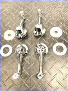 1964 Early 1965 MUSTANG NEW REPRO FRONT WIND CRANKS +REAR QTR CRANKS w/DISCS+HDW