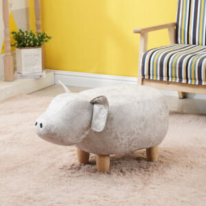 Footstools Ottoman Animals Stool Lovely Beige Pig Birthday Gift for Kids Adult