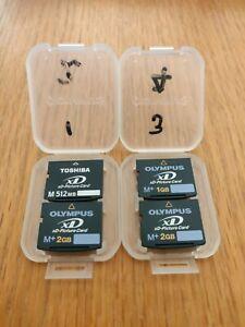 XD Picture Cards Memory Cards Camera Memory Sticks x4  job lot 2GB 2GB 1GB 512MB