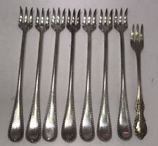 8 WM A Rogers Silver-plate Cocktail Forks 7 Al Engraved With (W)