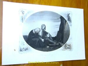 "EBS 19th Century Original Steel Engraving: ""The Two Marys at the Tomb"" 148"