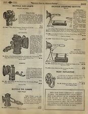 1923 Paper AD Solar Brand Bicycle Oil Lamp Liberty Automatic Delta