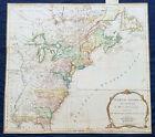 1775 Thomas Jefferys Antique Map North America & Colonial States, Pre Revolution