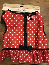New Disney Parks Tails Pet Dog Comfort Harness Minnie Mouse Costume Nwt Size Xl