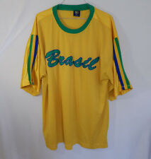 Brazil Team Brasil International Soccer Yellow Jersey Size 5Xl Xxxxxl