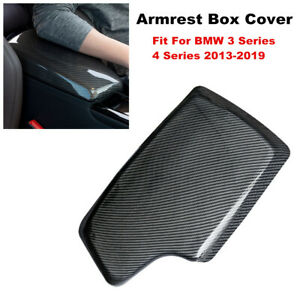 Carbon Fiber ABS Car Armrest Box Cover Tray fit for BMW 3 Series 318 320li F30