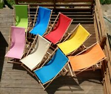 2 x Wooden Deck Chair Folding Sun Lounger Deckchair Garden Beach Deck Chair