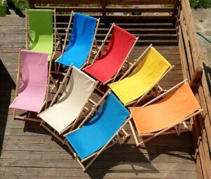 Wooden Deck Chair Folding Sun Lounger Deckchair Garden Beach Seaside Deck Chair