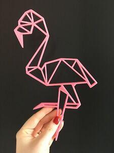 Geometric Flamingo Wall Art Decor Hanging Decoration Origami Style