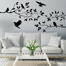 Black Tree Branch Birds Wall Handcraft Sticker Decal Mural For Home Decoration