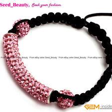 Pave Beads Disco Ball CZ Crystal Clay Rhinestones Tube Beads Bracelet Jewelry