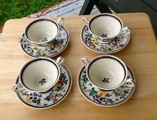Vintage HTF Wedgwood Rose Cretonne Cream Soup Cup/Saucer Etruria, England
