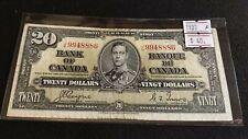 Canada 1937 $20 Dollar Bill Coyne - Towers J/E Very Nice Banknote