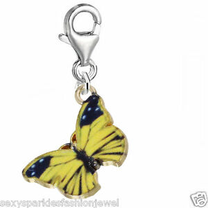 Clip on Butterfly Charm Pendant for Bracelets or Necklaces …3709