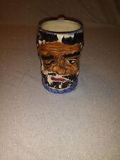Beer Mug Vintage Face Mug Occupied Japan Squirrel Handle Bearded Hand painted