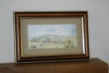 Vintage/Orig Pen & Water Colour Painting 1990 Belbroughton Church by Freda Green