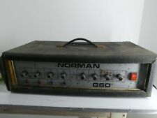 More details for vintage norman g60 1970s mixer power amplifier amp head music / audio g10