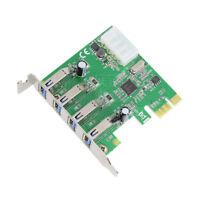 USB 3.0 PCI-E Card USB PCI Express HUB 4 Port Horizontal Connection