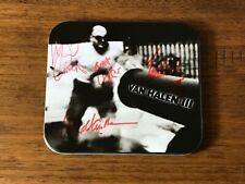 VAN HALEN III ~ AUTOGRAPHED SIGNED METAL TIN ~ 1998 CD WITH INSERTS