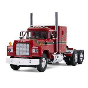 1:64 FIRST GEAR DCP *RED & BLACK* Mack R-Model Semi Truck w/Sleeper *NIB*