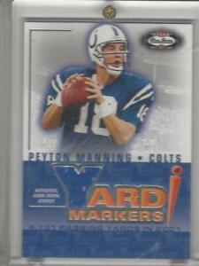 2002 Fleer Box Score Yard Markers Game-Worn Jersey Peyton Manning Colts