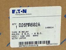 Eaton D26MR602A Type M Relay With Latch 6 N.O./0 N.C. UPC 782113181578 Coil 120V