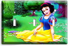 SNOW WHITE PRINCESS TRIPLE LIGHT SWITCH WALL PLATE KIDS BEDROOM PLAY GAME ROOM