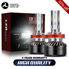 H11 H8 H9 LED Fog Light Conversion Bulbs Kit 60W 12000LM 6000K White Headlamp