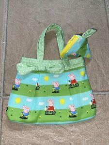 Handmade Girls Handbag  & Triangle Purse Peppa 🐷 Pig