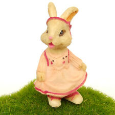Rabbit Bunny Dress Fairy Garden Terrarium Decor Doll Figurine Comic Figure Toy