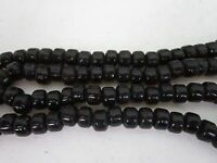 Black Opague Glass Crow Pony Beads Jewelry Craft Bead  Necklace 100 pcs 9 x 6MM